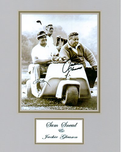 (Kirkland Signature Sam Snead & Jackie Gleason 8 X 10 Autograph Photo on Glossy Photo Paper)