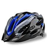 21 Hole Blue-black Carbon Fiber the Non Unibody Cycling Bike Bicycle Helmet for Road Bike and Mountain Bike (Blue)