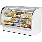 True TCGG-72 Refrigerated Curved Glass Display, 72