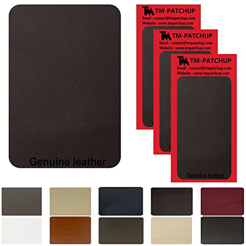 nd Vinyl Repair Patch by TMgroup, Genuine Faux Leather Repair Patch, Peel and Stick for Couch, Sofas, car Seats, Hand Bags,Furniture, Jackets, Large Size 3'' x 6'' (3) (Back 3 Three Seat Sofa)