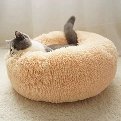 Betten & Sofas Für Katzen Hundebetten Langer Superweicher Plüschhundebett-Haustier-Hundehütte-Runder Schlafsack…