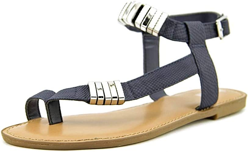 Women/'s Flat Heel T-Bar Ankle Strap Sandals Casual Buckle Beach Closed Toe Shoes