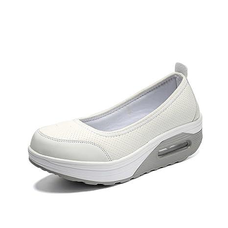Zapatillas sin Cordones y Transpirables de Aire comprimido para Mujer con Plataforma Zapatillas y Calzado de