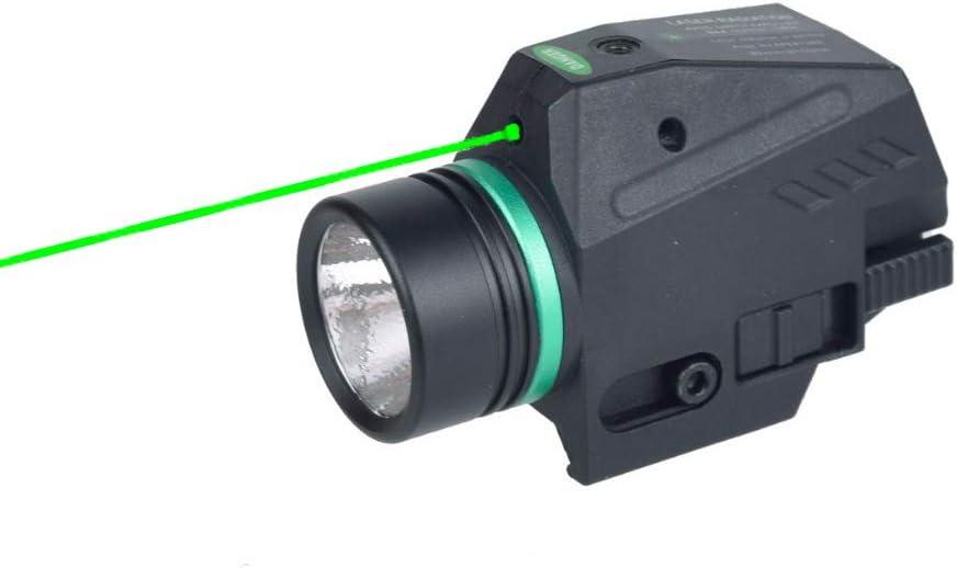 MAGORUI LED Flashlight Green//Red Laser Sight for 20mm Rail Glock Mini G Pistoll
