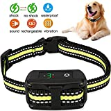 LELEKEY Dog Bark Collar | Automatic Anti Barking Control Device | 5 Adjustable Sensitivity,Waterproof & Rechargeable,Humane Staitic Shock,No Shock,Beep & Vibration for Small Medium Large Dogs
