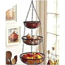 Useful. 3 Tier Hanging Fruit Basket (Black)