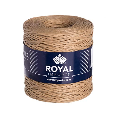 Natural Floral Bind Wire Wrap Twine, Paper Covered Waterproof Rustic Vine for Flower Bouquets 26 Gauge (673 Ft) by Royal - Suppliers Rope Wire