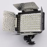 LEDwholesalers 70 LED Video Light with Rechargeable lithium battery and 4 Leaf Barndoor, 4001