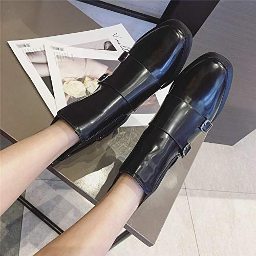 AJUNR Modische Arbeit Damenschuhe Das Kurze Stiefel mit mit mit hohen 5cm Square Kopf gürtel Harte Sohle Joker Rest Kurze u Stiefel 958d25
