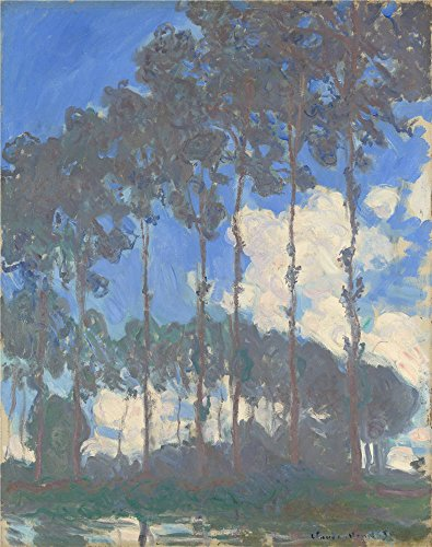 Oil Painting 'Claude-Oscar Monet - Poplars On The Epte,1891', 18 x 23 inch / 46 x 58 cm , on High Definition HD canvas prints is for Gifts And Dining Room, Gym And Powder Room Decoration
