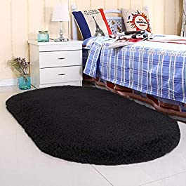 Noahas Super Soft Modern Shag Area Rugs Fluffy Living Room Carpet Comfy Bedroom Home Decorate Floor Kids Playing Mat