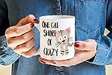 One Cat short of Crazy Coffee Mug - Crazy Cat lady - Kitty Mug - Cat Coffee mug - Cat lovers mug