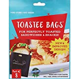 New & Improved Toastee Bags, Reusable Toaster Bags for Perfectly Toasted Sandwiches & Snacks (16 bags)