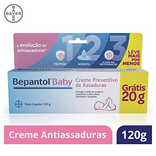 Creme Preventivo de Assaduras para Bebês, Embalagem Econômica, Bepantol Baby, 120 g