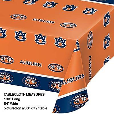 Auburn University Plastic Tablecloths, 3 ct: Toys & Games