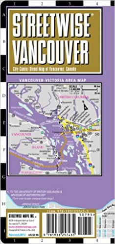 Streetwise Vancouver Map Laminated City Center Street Map of