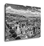 Ashley Canvas Spectacular Overview Of Cemetary San Diego Showing Typical Catholic Graves With, Home Office, Ready to Hang, Black/White 20x25, AG6523021