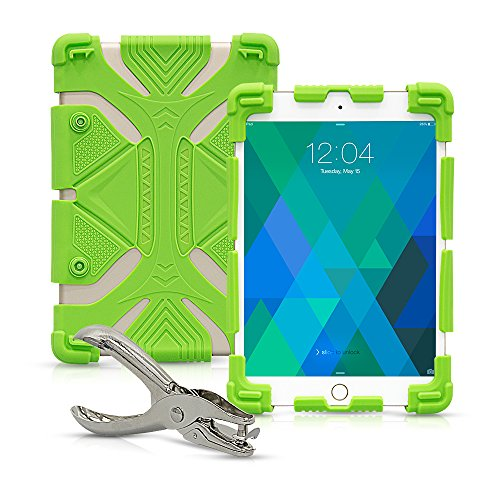 Universal 8 inch Tablet Case, Shockproof Silicone Protective Stand Cover 7.9
