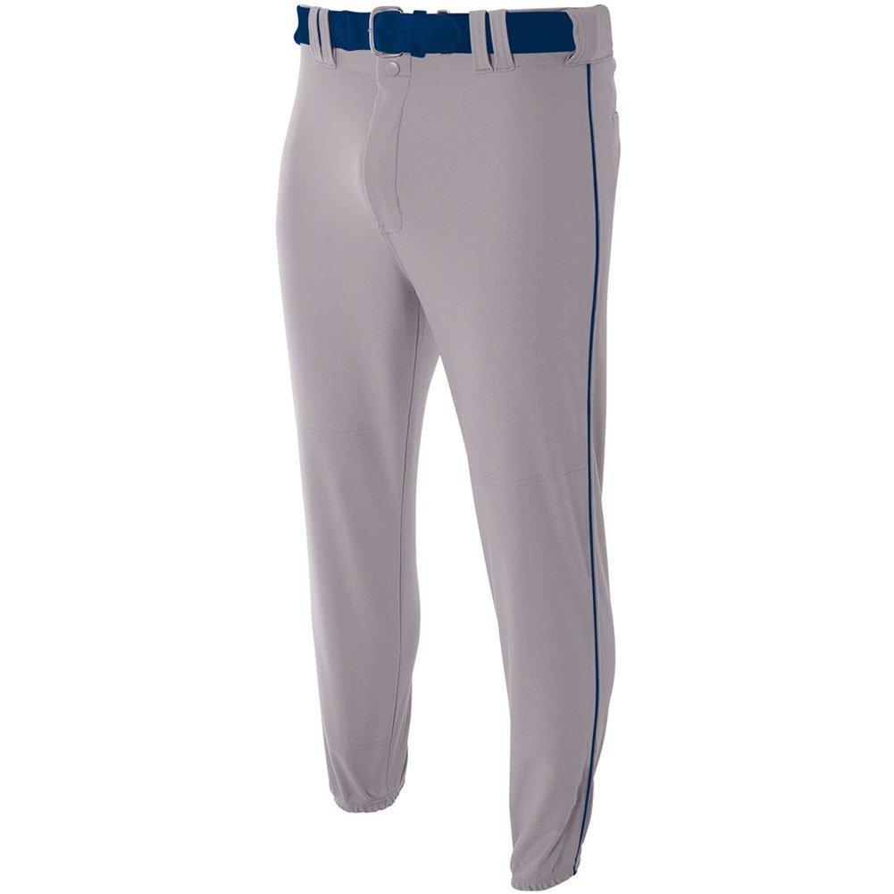 A4 NB6178 NB6178-Gry Pro-Style Baseballhose, elastisch