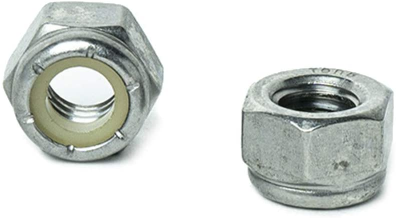 Zinc Plated Steel Nylon Insert 8-32 Hex Lock Nut PKG of 100 Grade 2