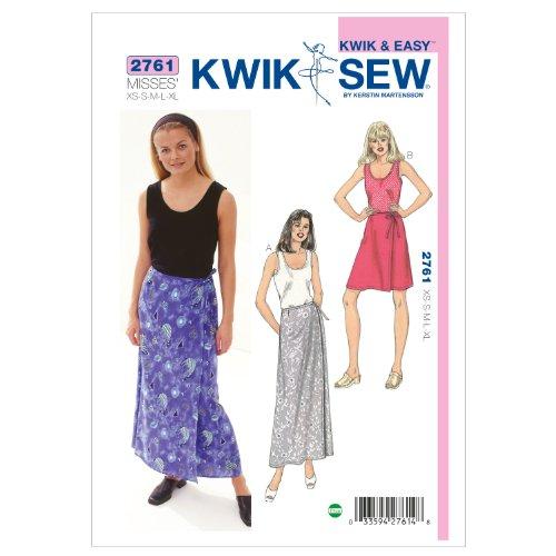 (Kwik Sew K2761 Tank Top and Skirts Sewing Pattern, Size XS-S-M-L-XL)