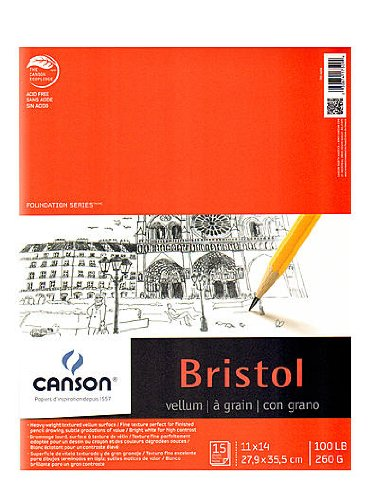 Canson Foundation Bristol Pads vellum 11 in. x 14 in. [PACK OF 2 ] by Canson