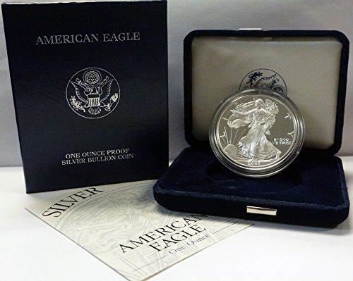 2001 W American 1 oz Silver Eagle Dollar PROOF US Mint