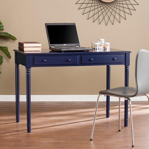 Southern Enterprises Janice Farmhouse 2 Drawer Writing Desk in Navy by Southern Enterprises