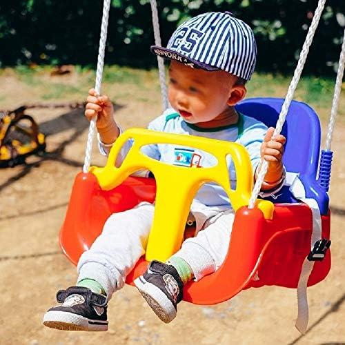 ブランコ 屋外屋内のおもちゃ子供のスイングシートキッズセーフティハンギングシート42x32x35.5CM ジャングルジム・ブランコ (色 : Red blue, Size : 42x32x35.5CM)