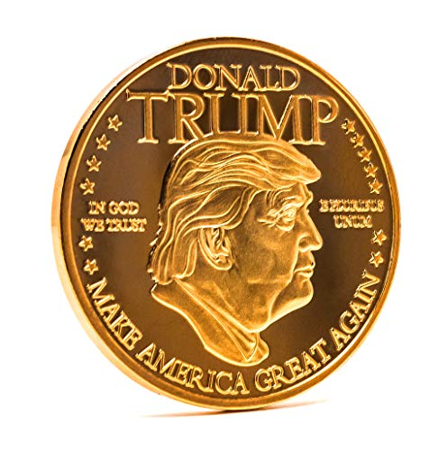 - Donald Trump Gold Colored Presidential Collectable Coin, Make America Great Again, 45th President, Great Gift for Republican or Democrat
