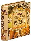 Basilur, Tea Book Collection, 100% Pure Ceylon Tea, Magic Fruits Assorted Tea Bags, Collectable Metal Caddy by Basilur