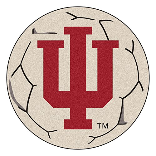 FANMATS NCAA Indiana University Hoosiers Nylon Face Soccer Ball Rug (Ball University Soccer Rug)