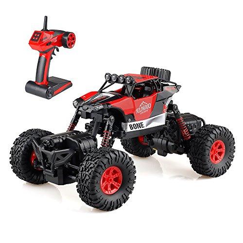 Gizmovine RCカー1/16リモートコントロールカー オフロードロック クローラー 4WD 4モードステアリングスプラッシュ防水登山車 子供おもちゃ