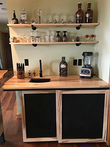 Custom Wet Bar Cabinet- Ambrosia Maple- Bypass Bar Door