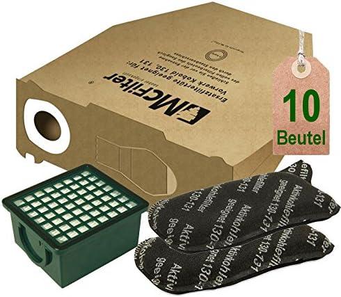 2 X FILTRO CARBONE ATTIVO 2 X MICRO FILTRO adatto per Vorwerk Folletto 130 131 131 SC