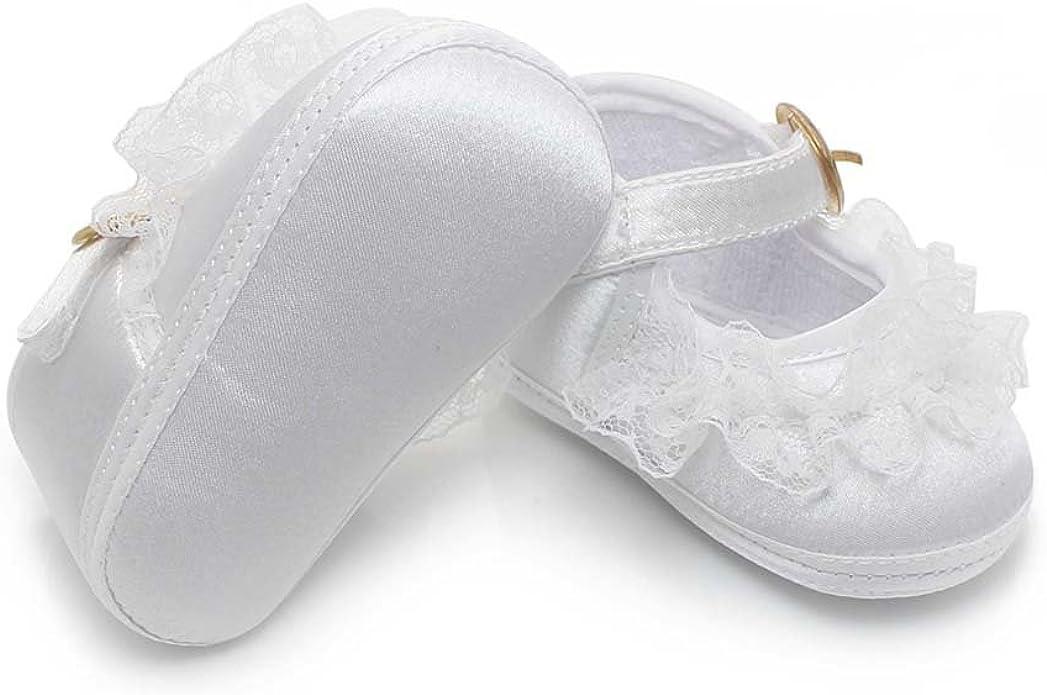 DELEBAO Baby Girl Infant Christening Satin Baptism Shoes Boot Ablution Slippers