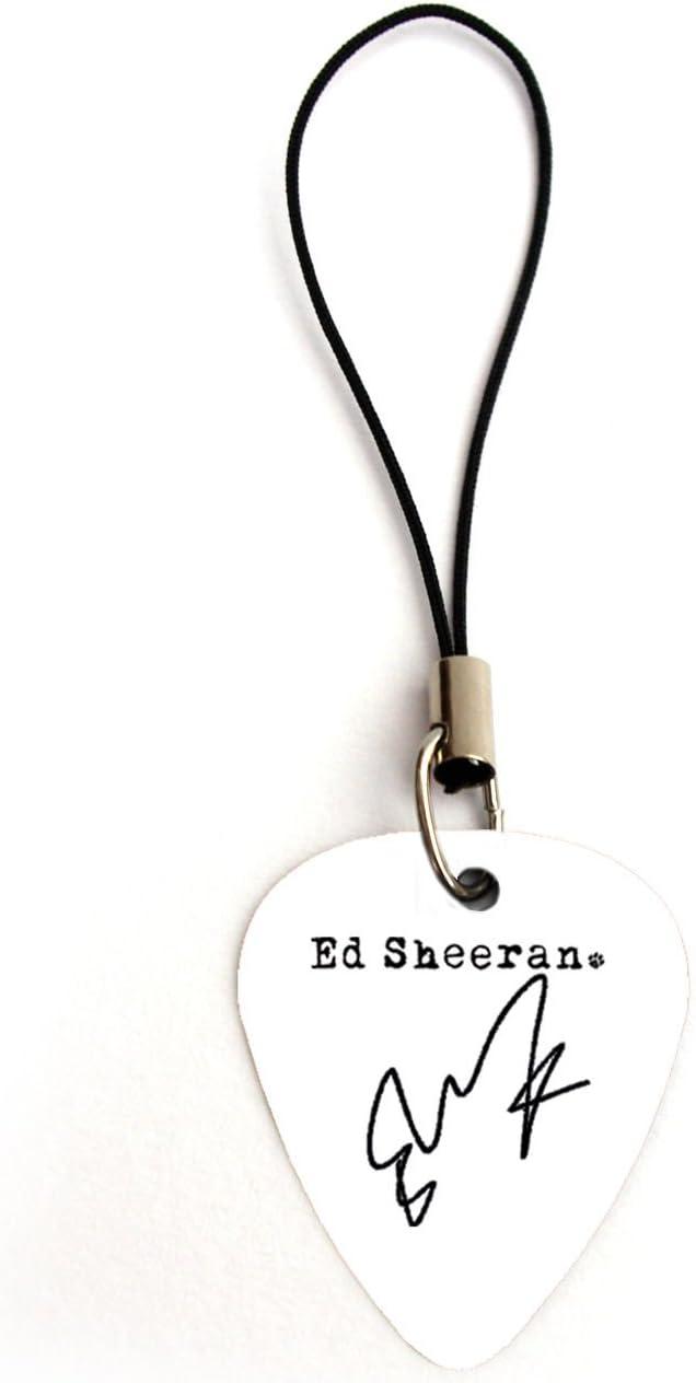 Firma de Ed Sheeran púa de guitarra Plectrum llavero pulsera collar pendientes Pin, Charm B: Amazon.es: Instrumentos musicales