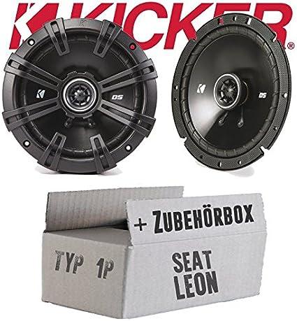 Kicker DSC 670   16cm Koax Lautsprecher - Einbauset für Seat Leon ...