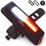 Cheap USB Rechargeable Bike Light Red or White LED glow or Flash 5 modes all in one Torch Flashlight Super Bright Taillight or Headlight for Cycling Safety set as Bicycle Helmet Rear Tail or Front Light