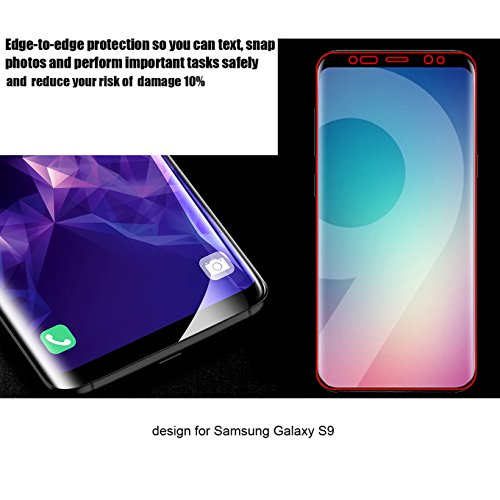[2 Pack] Galaxy S9 Screen Protector,CaseHQ Full Screen Coverage 3D Curved Anti-Fingerprint Anti-Scratch [High Definition] [Ultra Clear] HD Clear Flexible Film for Samsung Galaxy S9,not Glass by CaseHQ (Image #2)