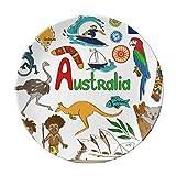 Australia Landscape Animals National Flag Dessert Plate Decorative Porcelain 8 inch Dinner Home