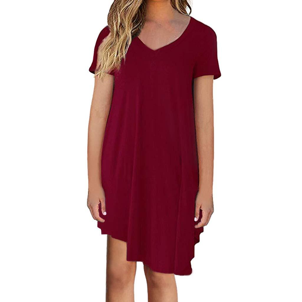 ca9939d506f Womens Short Sleeve V Neck Solid Tops