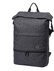 LYCSIX66 Work Gym Bag w/Shoe Pocket Anti Theft Travel Backpack Fit 17 Laptop