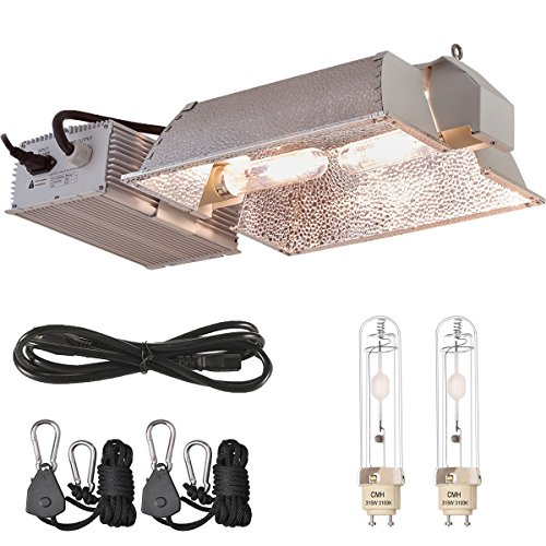 TopoLite CMH 315W/ 630W CDM 120/240V Grow Light Kit Bulb & 120V Plug Included Hydroponic Indoor System (Enclosed CMH 630W(3100K)-2)