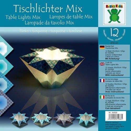 Lampenpapier versch. Designs (Tischlicht Türkis) by Nice Papers