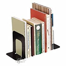 Steelmaster Deluxe Steel Bookends, 5 Inch Backs, 1 Pair, 4.69 x 5 x 5.25-Inch, Black (241005104)