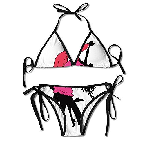 Bikici Two-Piece Suits Salsa Dance Latin Rhythm Bandage Bikini Swimwear Swimsuits Beachwear