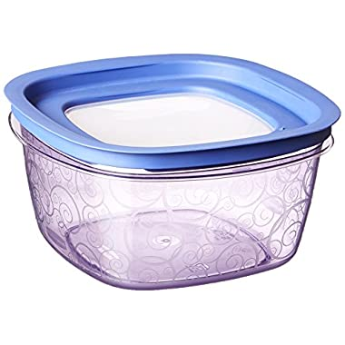 Rubbermaid Easy Find Lid Premier Food Storage Container, Purple, 14-cup (1812438)
