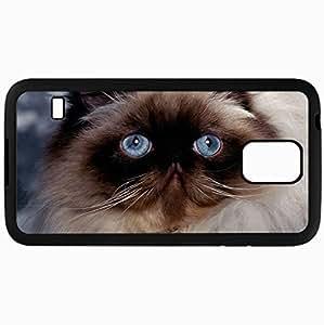 Fashion Unique Design Protective Cellphone Back Cover Case For Samsung GalaxyS5 Case Cat Muzzle Fluffy Thick Black