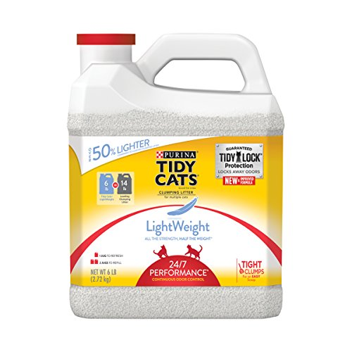 Purina Tidy Cats LightWeight 24/7 Performance Clumping Cat Litter 51XPZ7C8ikL